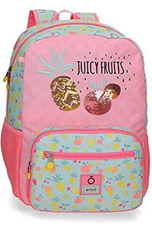 "Enso Juicy Fruits Anpassbarer Schulrucksack Mehrfarbig 32x42x14 cms Polyester 14"" 18.82L"