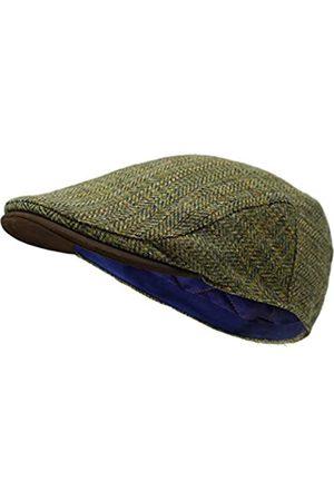 Borges & Scott Die Sloan - Flat Cap aus Irish Tweed und Nubukleder - - XL