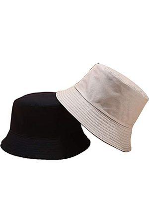 Wheebo Einfarbiger Fischerhut, 100 % Baumwolle, Sonnenhut, Sommer, Strandkappe für Damen
