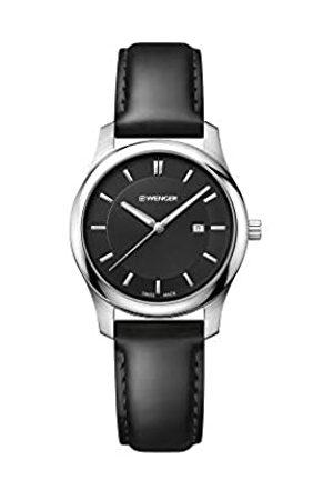 Wenger Damen Uhren - Damen City Classic - Swiss Made Analog Quarz Edelstahl/Leder Uhr 01.1421.103