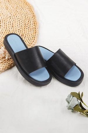 CUPSHE Schwarze Sandalen mit breitem Band