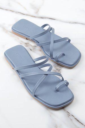 CUPSHE Party Blaue Sandalen mit Riemchen