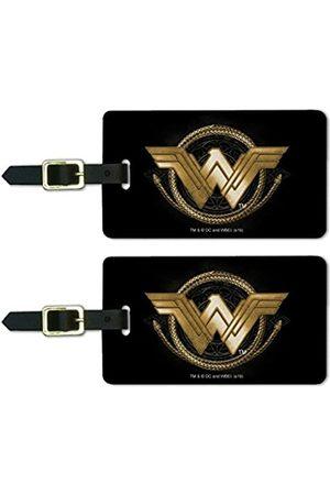 Graphics and More Damen Reisetaschen - Gepäckanhänger mit goldenem Lasso-Logo, Wonder Woman