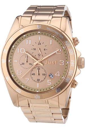 Just Watches Unisex-Armbanduhr Analog Quarz Edelstahl 48-S1230-RGD