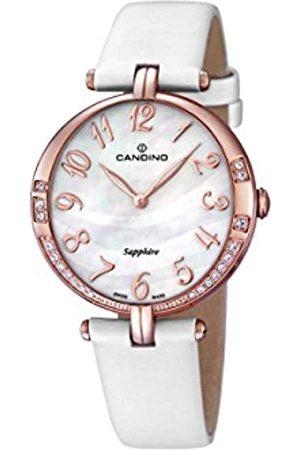 Candino Damen Uhren - Damen Analog Quarz Uhr mit Leder Armband C4602/2