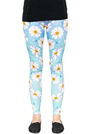 cosey Damen Leggings & Treggings - Damen Bunte Bedruckte Blumen Leggings