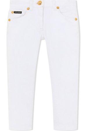 Dolce & Gabbana Kids Halbhohe Skinny-Jeans