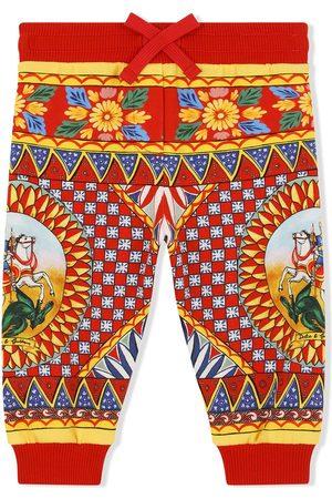 Dolce & Gabbana Carretto-print track trousers