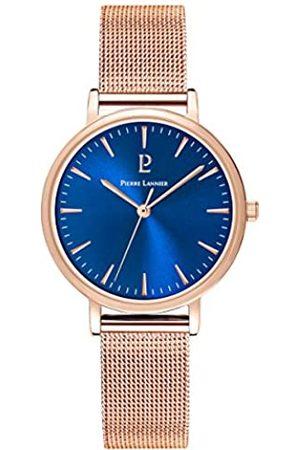 Pierre Lannier Damen Uhren - PierreLannierDamenAnalogQuarzUhrmitmassivesEdelstahlArmband091L968