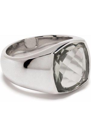 TOM WOOD Shelby Ring aus Sterlingsilber mit Quarz