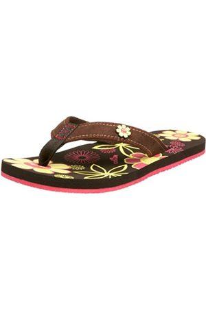 Cobian Damen-Sandalen mit Gänseblümchen-, Braun (Schokoladenbraun)