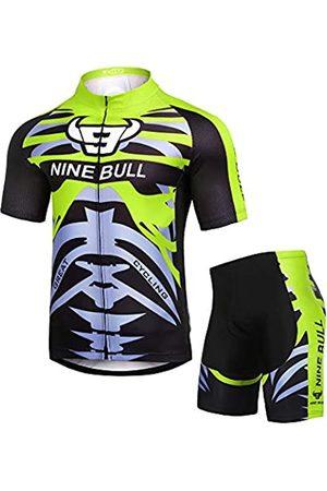 nine bull Herren Trainingsanzüge - Herren Radtrikot Set - Reflektierendes Schnelltrocknendes Fahrradshirt und 3D gepolsterte Radhose - - X-Groß