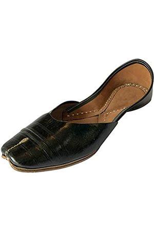 Step N Style Damen Flip Flops - Punjabi Jutti Fancy Indische Schuhe Hochzeit Brautschuhe Mojari Flache Flip Flops