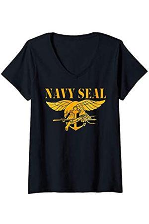 Navy London Damen Original U.S. Seal Naval Seals team proud gift T-Shirt mit V-Ausschnitt