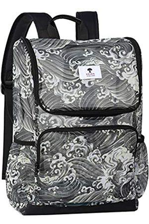 ESVAN Rucksack mit originellem Druck, durchsichtig, für Schule, Strand, Fitnessstudio, Mehrzweck