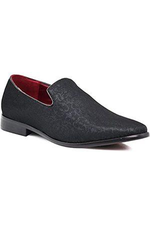 Enzo Romeo ARK1 Herren Vintage Satin Seidige Blumen Mode Kleid Loafer Slip On Smoking formelle Kleid Schuhe Designer