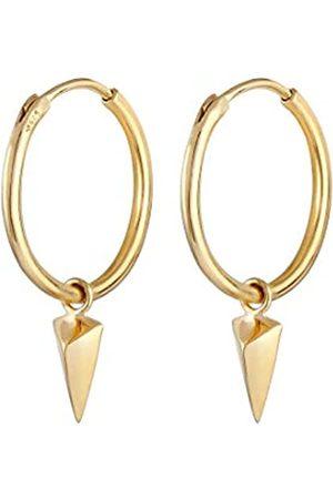 Elli Ohrringe Damen Hänger Creole Dreieck Geo Design in 925 Sterling Silber