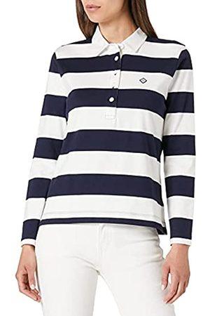 GANT Damen Longsleeves - Damen D1. Block Striped Heavy Rugger Polohemd