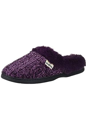 Dearfoams Damen Marled Cable Knit Chenille Clog with Wide Widths Slipper