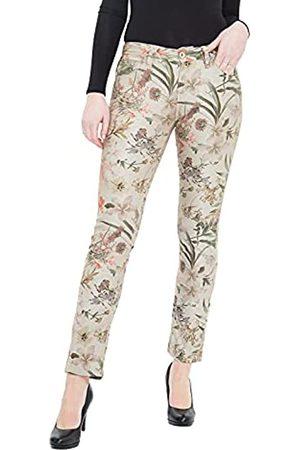 ATT Damen Floral Bedruckte Röhrenhose Mit Floralem Alloverdruck Stella