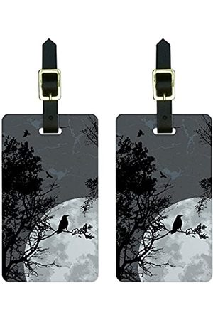 Graphics and More Reisetaschen - Graphics & More Gepäckanhänger Raven at Night, schwarzer Vogel