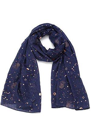 Tinpia Modischer Schal für Frauen, leicht, bunt, mit Stern- und Mondmuster, für Mädchen und Damen