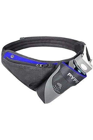 PYFK Damen Sporttaschen - Running Belt Hydration Waist Pack with Water Bottle Holder for Men Women Waist Pouch Fanny Bag Reflective (Blue)