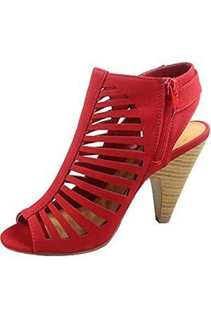 Generic FZ-Shaky-s Damen Sexy Riemchen Peep Toe Slingback Schnalle Chunky Heel Sandalen Schuhe, ( /stapelbar)