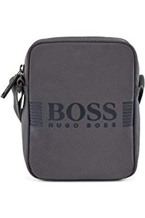 HUGO BOSS Herren Umhängetaschen - Herren Pixel NS zip mini Reporter-Tasche aus strukturiertem Nylon mit Logo-Print Größe One Size