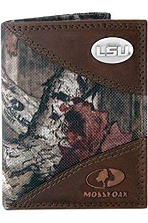 ZEP-PRO NCAA LSU Tigers Mossy Oak Nylon und Leder Trifold Concho Wallet Einheitsgröße