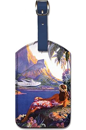 Pacifica Island Art Leatherette Luggage Baggage Tag - South Seas Isles by Lawler