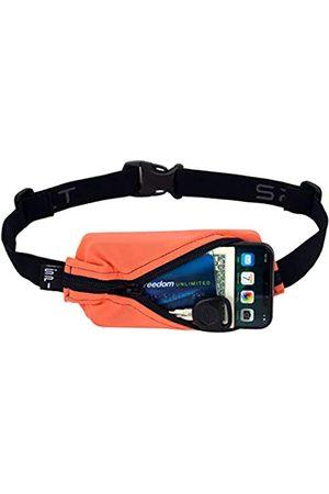 Spibelt Laufgürtel Original Tasche, No-Bounce Hüfttasche für Läufer, Athleten, Männer und Frauen, passend für iPhone und Android-Handys (Koralle mit schwarzem Reißverschluss