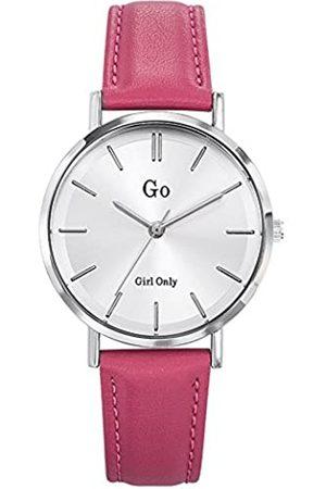 GO Girl Only Damen Analog Quarz Uhr mit Leder Armband 698941