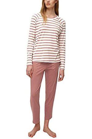 Marc O'Polo Body & Beach Damen Langer Schlafanzug Loungewear Rundhals Pyjamaset