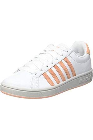 K-Swiss Damen Court TIEBREAK Sneaker, White/Peach Nectar