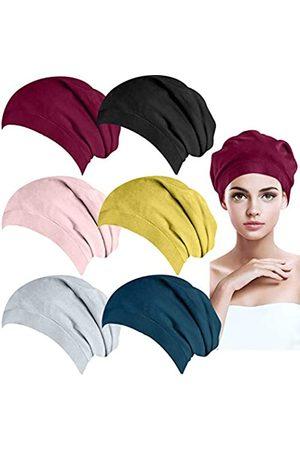 BQTQ 6 Stück Beanie Mütze Satin Gefüttert Baumwolle Schlafmütze für Damen und Herren