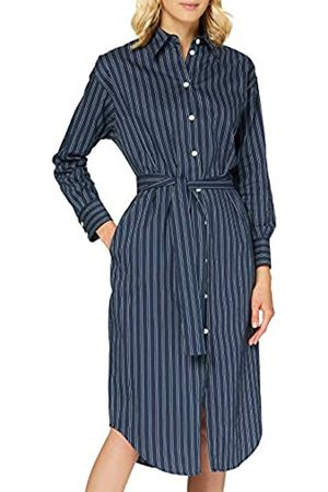 Seidensticker Damen Kleid Langarm Gestreift Multi Kleid