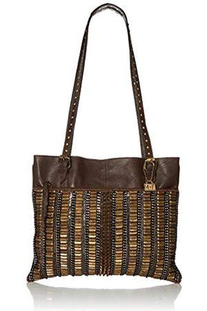 MARY FRANCES Damen Be Strong Embellished Leather Tote Tragetasche