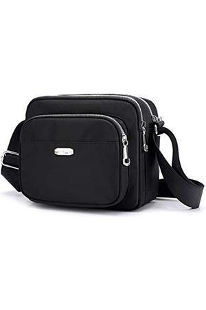 Collsants Kleine Umhängetasche für Damen, Geldbörsen und Handtaschen, Nylon-Schultertasche, Reise-Geldbörse, mehrere Reißverschlusstaschen