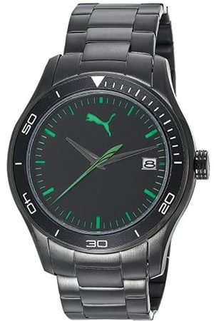 PUMA Time Herren-Armbanduhr XL Ride 3HD Metal- L Black Analog Quarz Edelstahl PU102571004