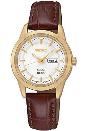 Seiko Damen-Armbanduhr Analog Quarz Leder SUT164P2