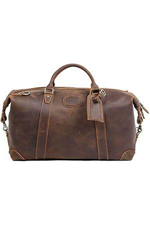 POLARE ORIGINAL Polare Reisetasche, 50,8 cm, erweiterbar, Vollnarbenleder, italienisches Leder