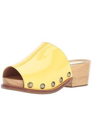 RACHEL COMEY Women's Dover Platform Sandal, lemongrass patent leather