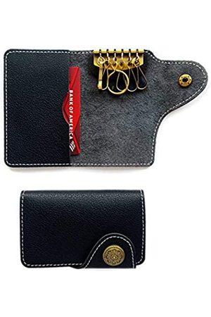Ginitymay Schlüsseletui aus Rindsleder, für Autoschlüssel und Hausschlüssel