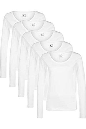 Berydale Damen Langarm-Shirt mit Rundhalsausschnitt aus 100% Baumwolle
