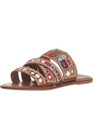 Mia Women's Kalia Flat Sandal, Luggage