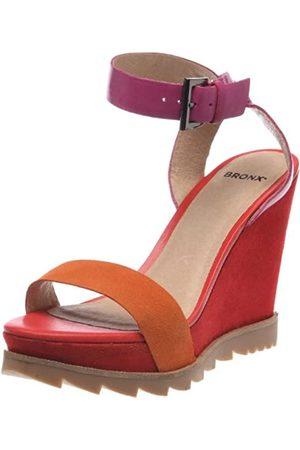 Bronx BX 188 83864-D, Damen Sandalen/Fashion-Sandalen, (Papaya/Fuchsia 1)