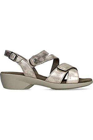 Wolky Fria Damen Comfort Sandale – voll verstellbar – leichte PU-Laufsohle – weiches italienisches Leder – anatomisch geformtes Latex-Fußbett – Leder gefüttert