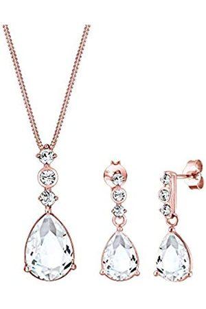Elli PREMIUM Schmuckset Damen Tropfen Edel mit Kristalle in 925 Sterling Silber