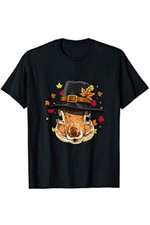 Wowsome! Thanksgiving Squirrel Pilgrim Costume Men Women T-Shirt